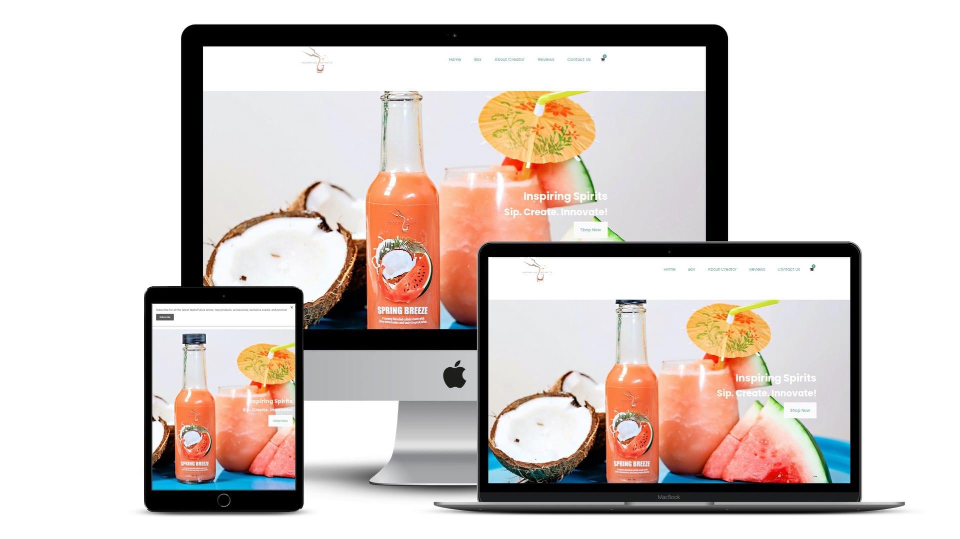 The Urban Geeks - Clients - Inspiring Spirits Website Screenshots