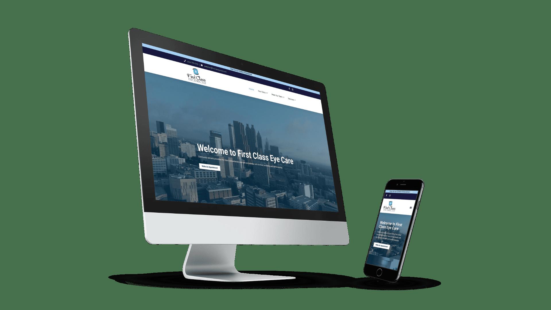 The Urban Geeks - Client - First Class Eye Care Website